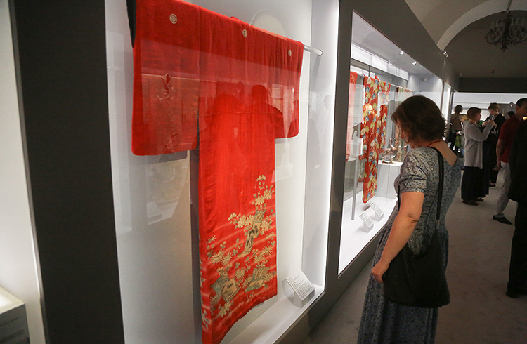Red Kimono | Kimono Exhibitions | from The Khalili Collections